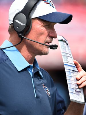 """Titans coach Ken Whisenhunt says he should not have called for a deep pass on first down in the final two minutes of the Titans' 14-13 loss to Buffalo on Sunday. """"It wasn't a great call,"""" he said. """"It's one of the ones you want to have back."""""""