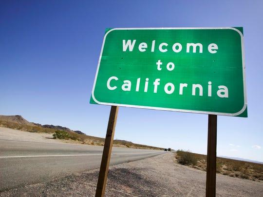 A California sign