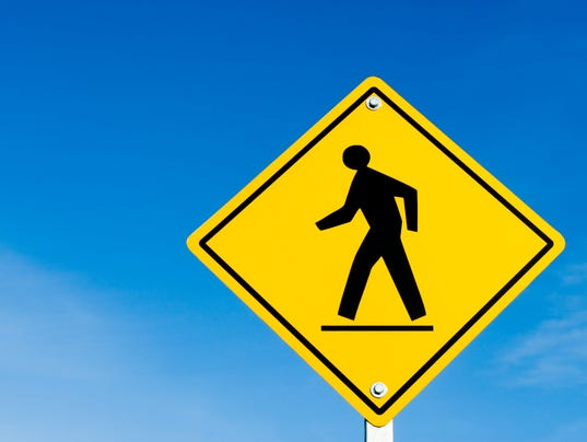 #stock Pedestrian crossing sign