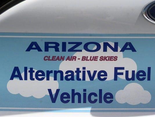 BUMPER STICKER ON MESA'S NATURAL GAS CAR