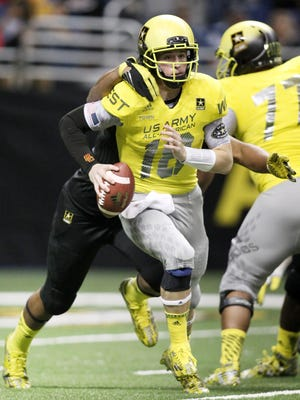 Ricky Town is shown participating in the U.S. Army All-American Bowl in January. The four-star recruit left Southern Cal and signed with Arkansas on Friday.