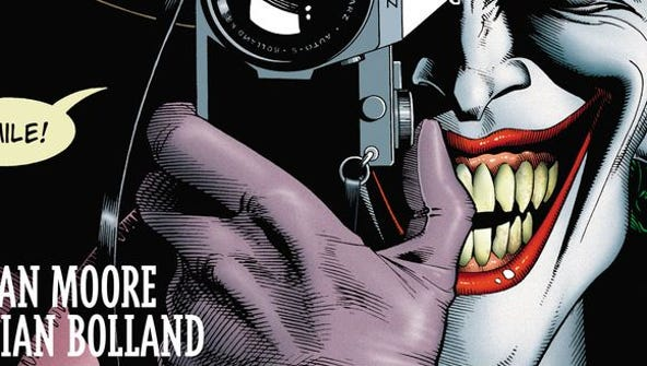 """The cover of """"The Killing Joke,"""" written by Alan Moore"""