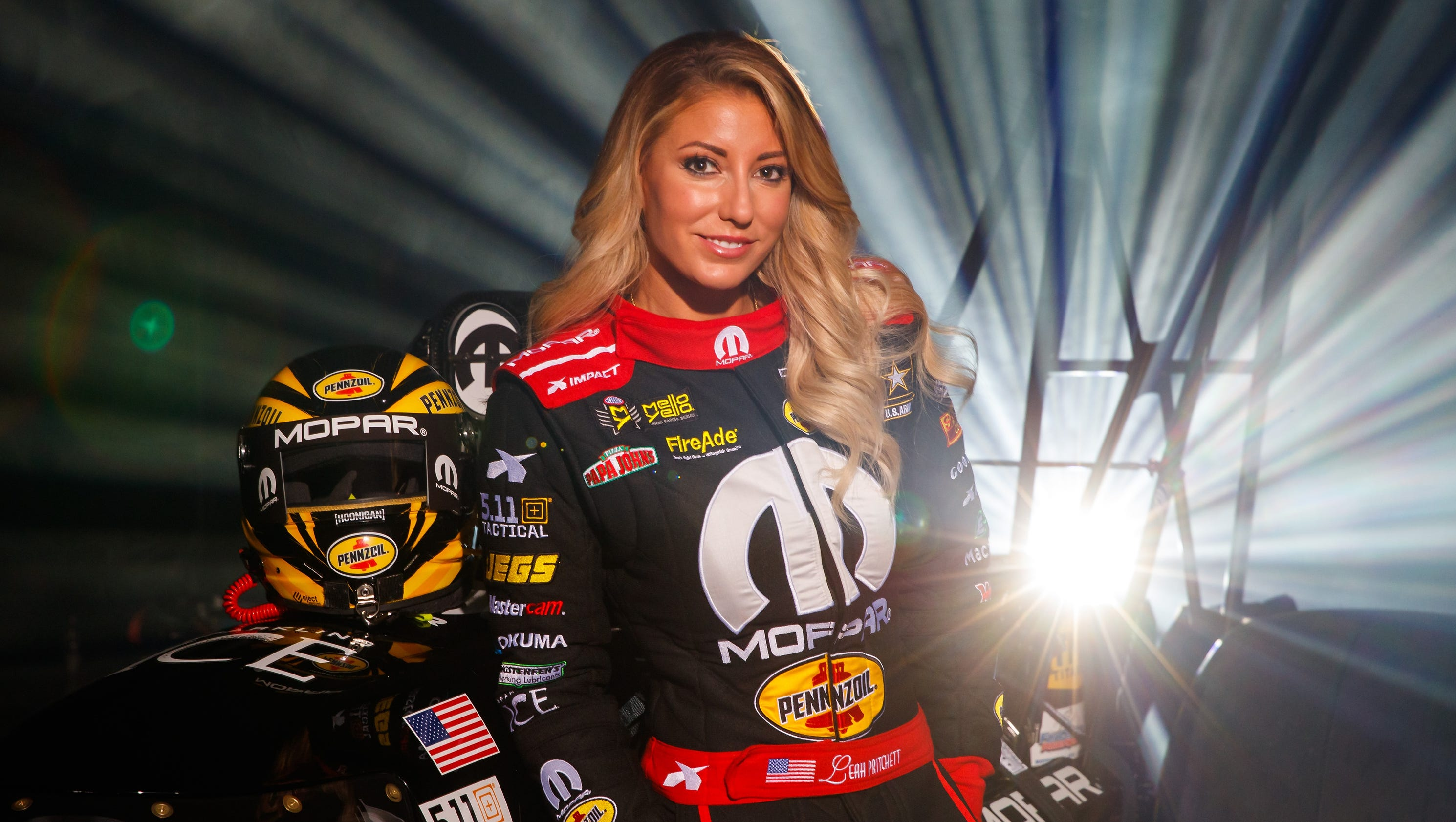 NHRA Top Fuel driver Leah Pritchett