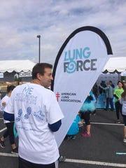 Tim Peterson participates in the Free to Breath event in 2014 in Albuquerque.