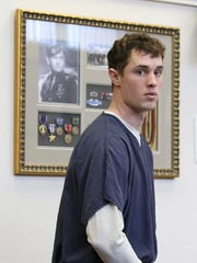Beau Smith, the Willamette University football player, charged with manslaughter for the late night death of Michael Hampshire, appeared at an arraignment on Friday, Feb. 6, 2015, in Salem.