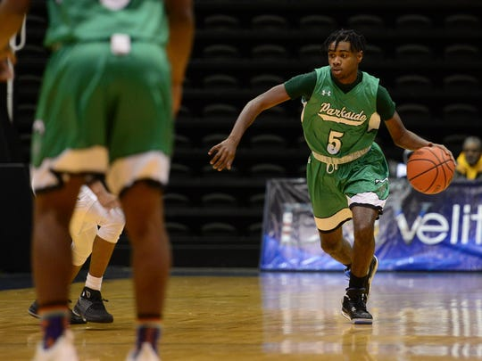 Parkside's Marcus Yarns looks to set up the offense