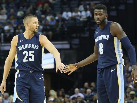 Oct 28, 2017;  Memphis Grizzlies forwards Chandler