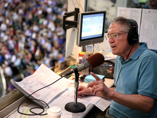 Chicago Cubs radio broadcaster Pat Hughes