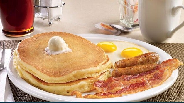 Place an online or mobile order using Denny's on Demand to get a free Grand Slam.