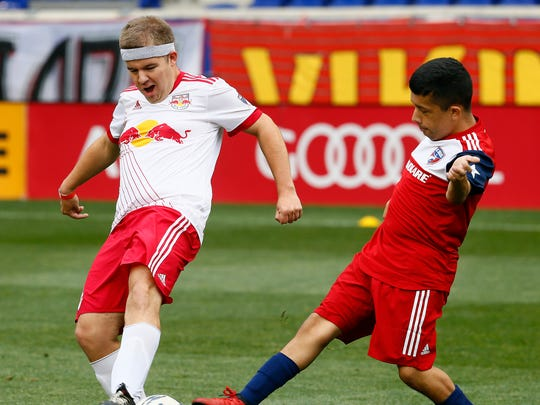 Nicholas Vales of Oceanport defends for the Red Bulls