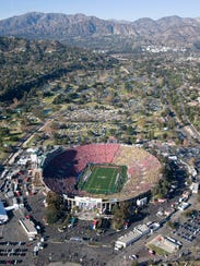 The Rose Bowl will play host on Monday to the first