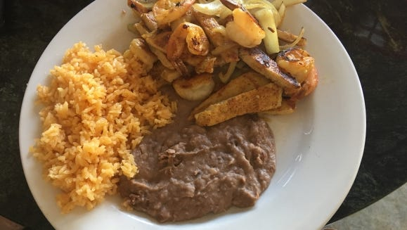 Adelina's Restaurant & Bakery's chicken and shrimp fajitas.