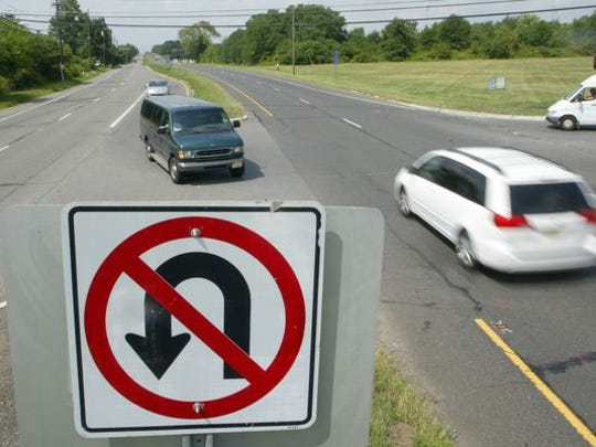 No U-turn signs, and their cousin, no left turns, are common sights in New Jersey.