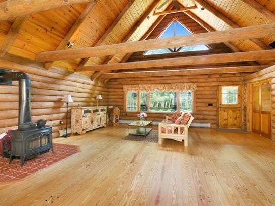 There are vaulted ceilings and a loft on the second floor.