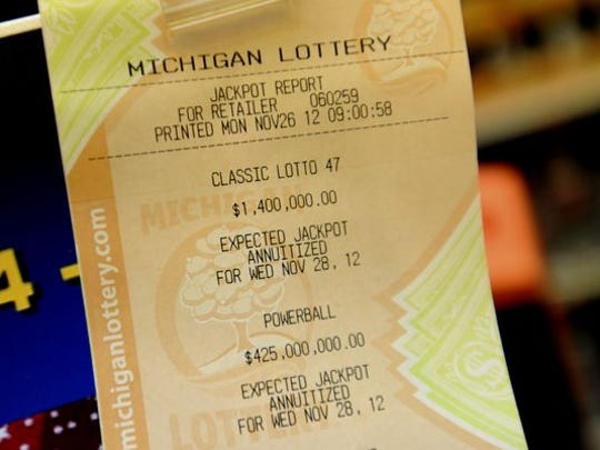 A lottery ticket printout is seen at a local store in this 2012 State Journal file photo. A pair of bills pending in the Legislature would privatize lottery management.