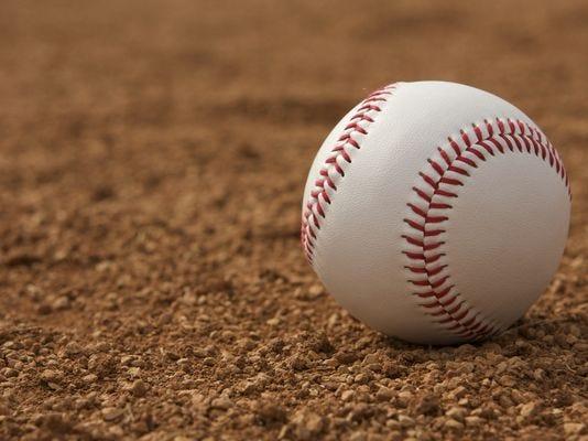 Baseball in dirt stock art