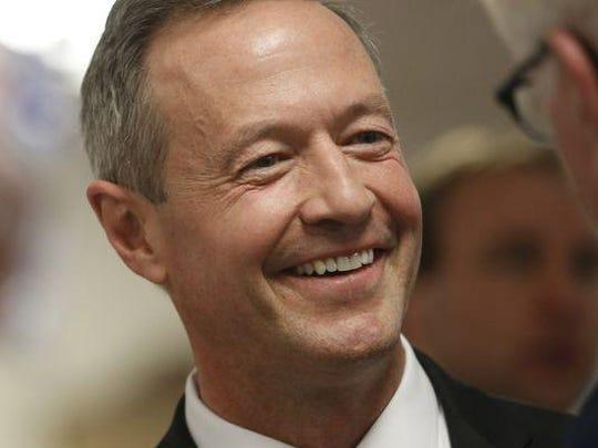 Former Maryland Gov. Martin O'Malley