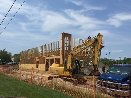 Construction of the 2,063-square-foot Taco Bell is underway on Route 35 in Ocean Township.