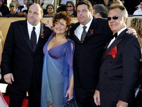 """The Sopranos"" cast members (from left) James Gandolfini, Aida Turturro, Steve Schirripa and Tony Sirico in 2005."