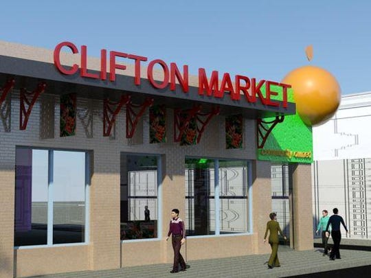 A rendering of a new design for the proposed Clifton Market