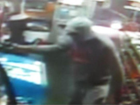 Humboldt police released this surveillance image of a robbery at South Side Deli on Wednesday.
