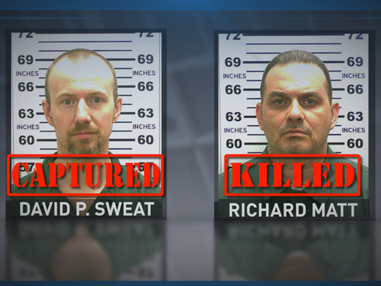 Provided photo of escaped killers released by authorities.