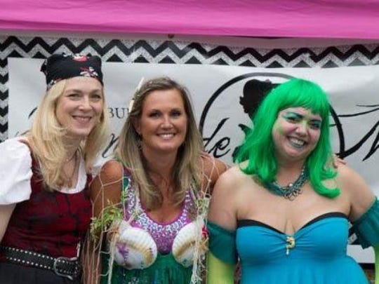Green-haired Jenn Mehmaid and friends will greet all