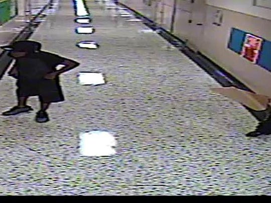 Jackson police are looking for three people in a Monday night burglary at Parkview Learning Center on East Chester Street.