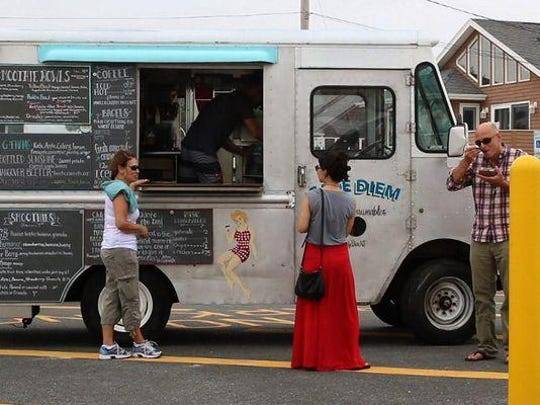 The truck serves costumers at the end of Trenton Avenue in Lavallette.