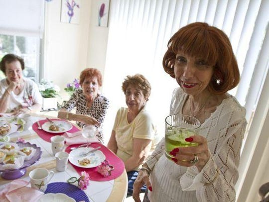 Final gathering of the Wippities, a group of ladies who met while attending high school in Newark back in 1947. Left to right are Rosalie Petoia of Newark, Anne Tomaro of Manasquan, Millie Coughlin of Manasquan, and Terry Perna of Marlboro.