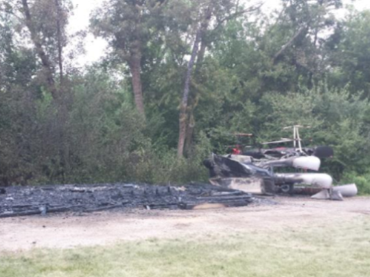 The Outdoor Campus boating shed was destroyed by a fire in July.
