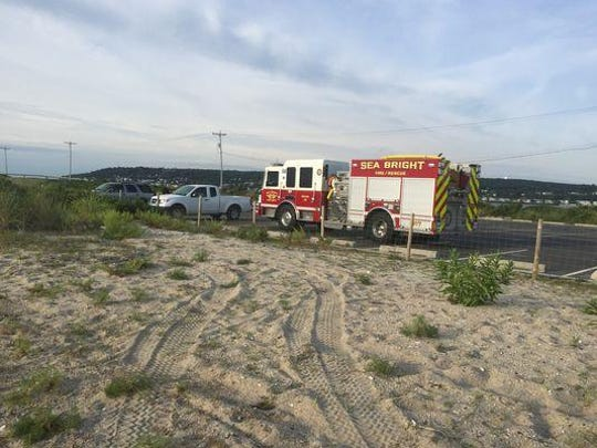 Authorities found the body of a swimmer who went missing Wednesday evening near Sandy Hook.