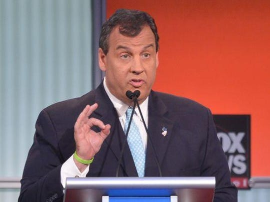 New Jersey Gov. Chris Christey participates in the Republican presidential primary debate on August 6, 2015 at the Quicken Loans Arena in Cleveland, Ohio. AFP PHOTO / MANDEL NGAN (Photo credit should read MANDEL NGAN/AFP/Getty Images)(Photo: MANDEL NGAN, AFP/Getty Images)