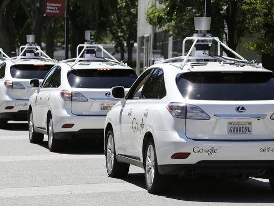 Driverless cars USA Today