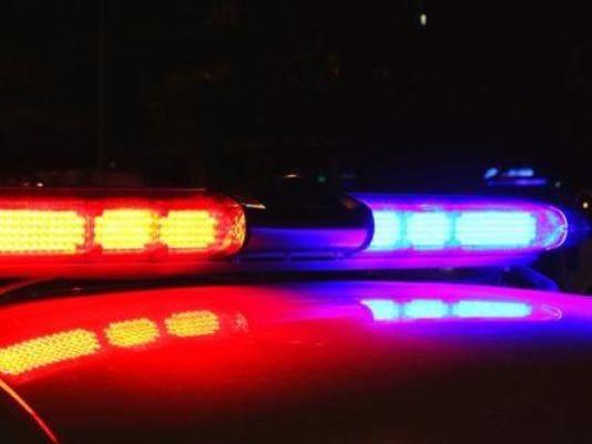 Police lights stock