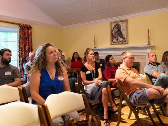 Community members gathered Tuesday night at Miller Manor to learn about their next possible steps in light of news that Little Friends Child Care Center will be closed.