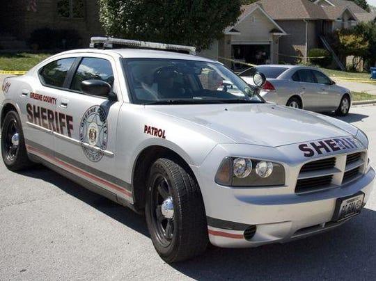 Greene County sheriff's patrol car.