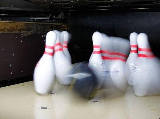 Bowling took place Monday on the Space Coast.