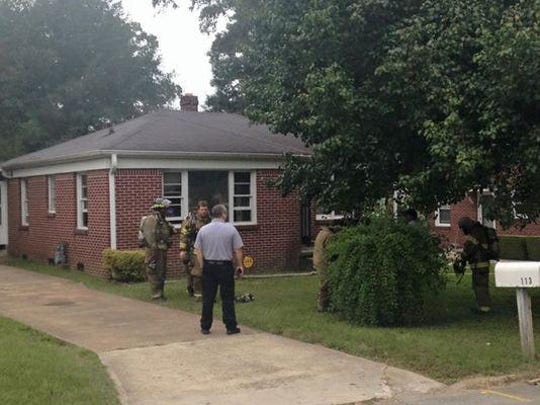 Jackson firefighters said no injuries were reported at a kitchen fire on Northside Drive on Monday morning.