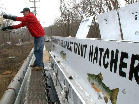 About 625,000 trout are stocked into N.J. bodies of water every year.