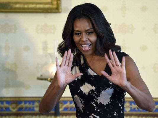 First lady Michelle Obama posts first-ever Spotify playlist.