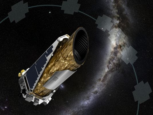 An artist's depiction of the Kepler space telescope.
