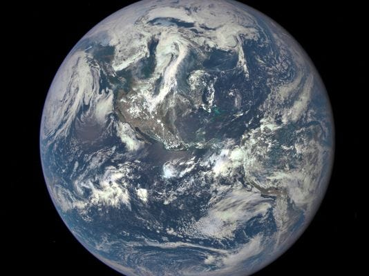 A handout photo released by NASA in July shows an image taken by a NASA camera on the Deep Space Climate Observatory satellite.