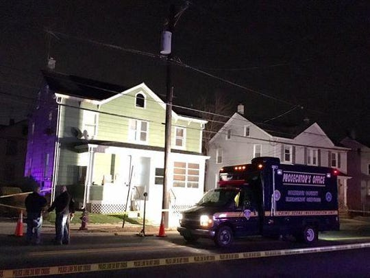 The First Avenue home in Raritan where a mother and daughter were killed. Their bodies were found Friday evening.