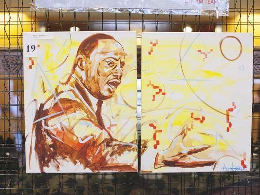 Black History Month MLK painting