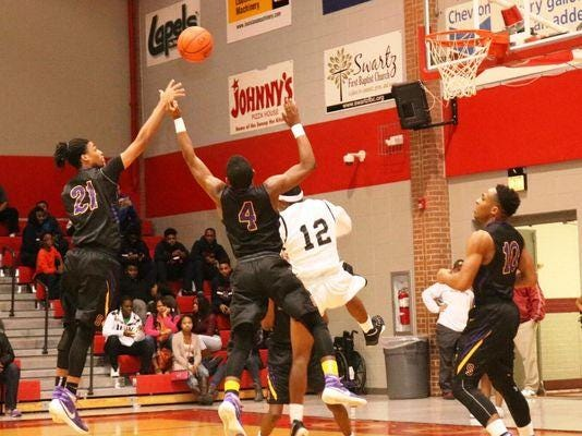 Simsboro's Deonte Levingston (4) is a second-team All-State Class B selection while Zach Taylor (10) is a first-team selection.
