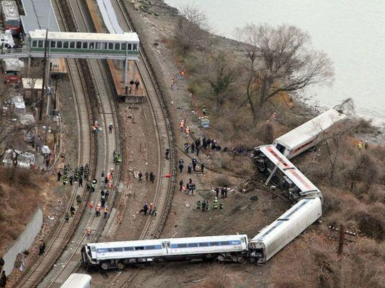 A Metro-North train derailed along the Hudson River in December 2013, killing four.