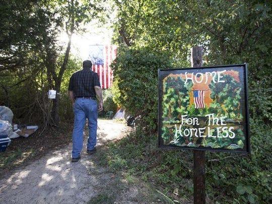 The Rev. Steve Brigham's homeless camp is coming to an end. Kala Kachmar/Asbury Park Press