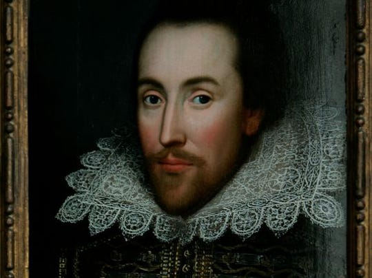 A portrait of William Shakespeare, presented by the Shakespeare Birthplace trust, is seen in central London in 2009. (Photo: Lefteris Pitarakis, AP)