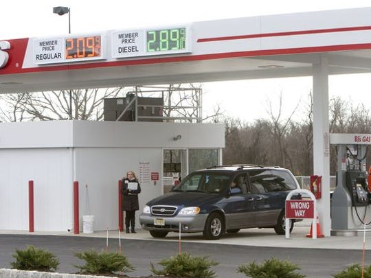 BJ's Wholesale Club was selling gasoline for $2.09 a gallon at its new Howell station.